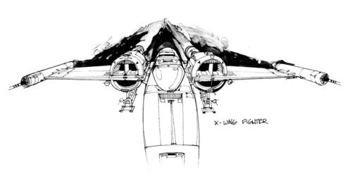 High-Flying STAR WARS X-Wing Concept Art by Joe Johnston and Ralph McQuarrie « Film Sketchr