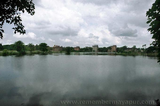 Mayapur during flood season