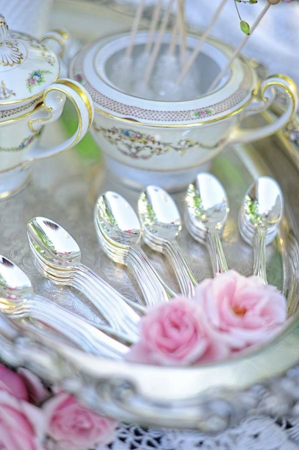 tea time in silver