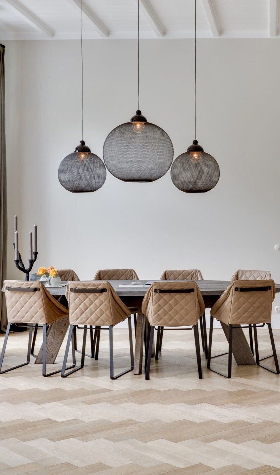 Non Random Pendant Features Black Or White Fiberglass Soaked In Epoxy Resin With Powder Coated Alu In 2021 Dining Table Lamps Living Room Lighting Dining Room Lighting