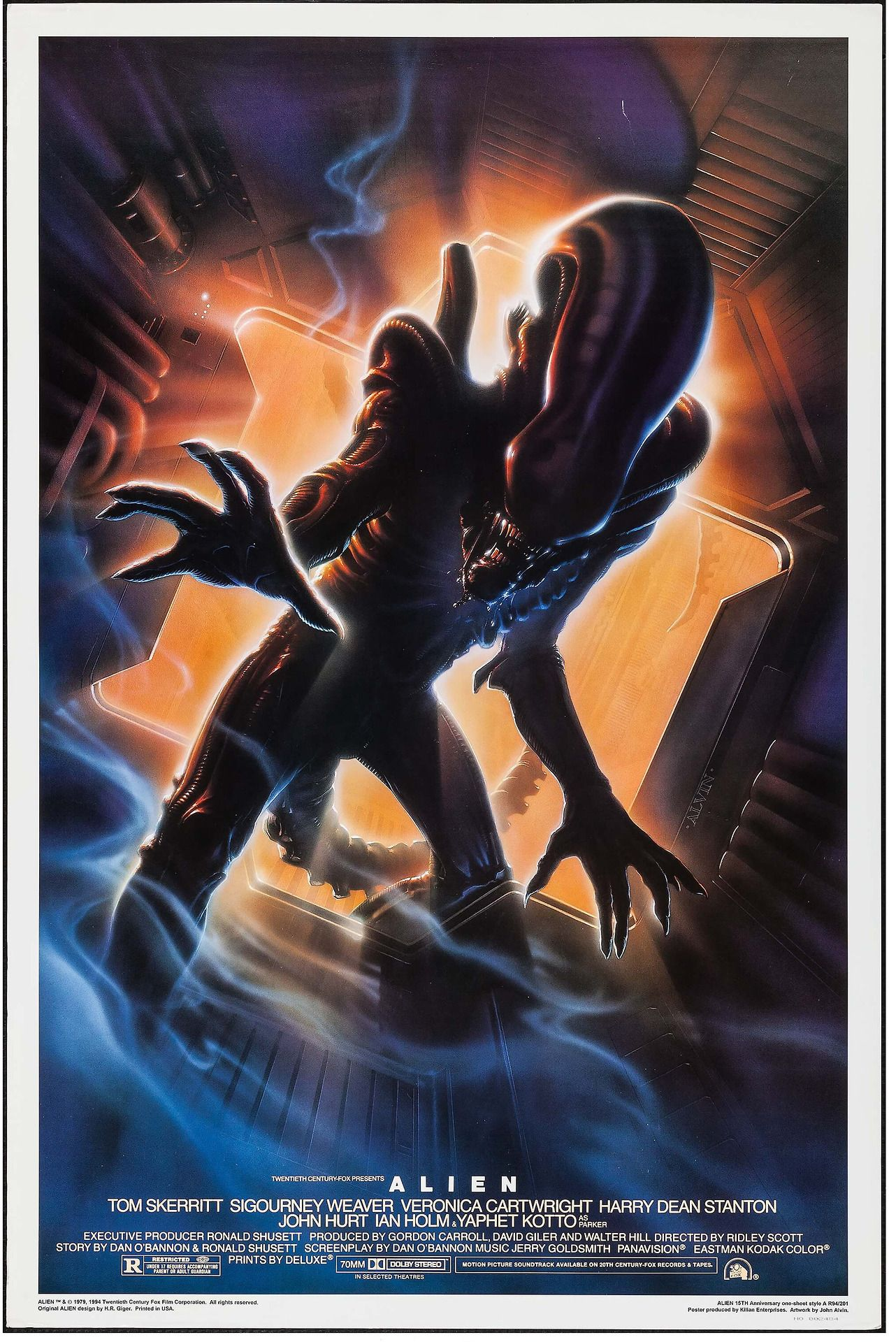 15th anniversary poster for the 1979 film alien art by