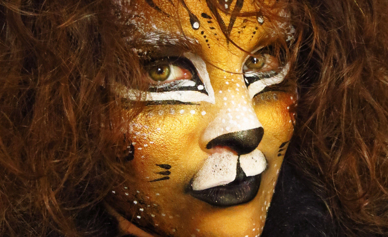 Lion Puma Leopard Tiger Facepaint Makeup Tutorial