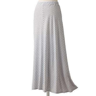 LC Lauren Conrad Chevron Stripe Maxi Skirt