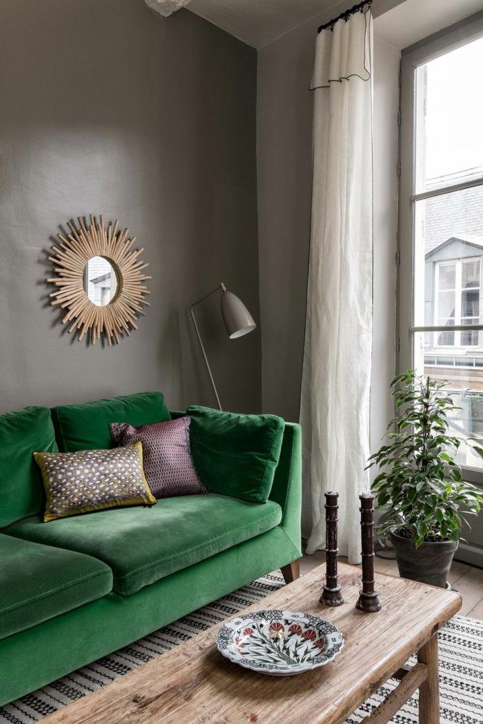 farbgestaltung ideen für das moderne wohnzimmer grüner sessel und - moderne farbgestaltung wohnzimmer