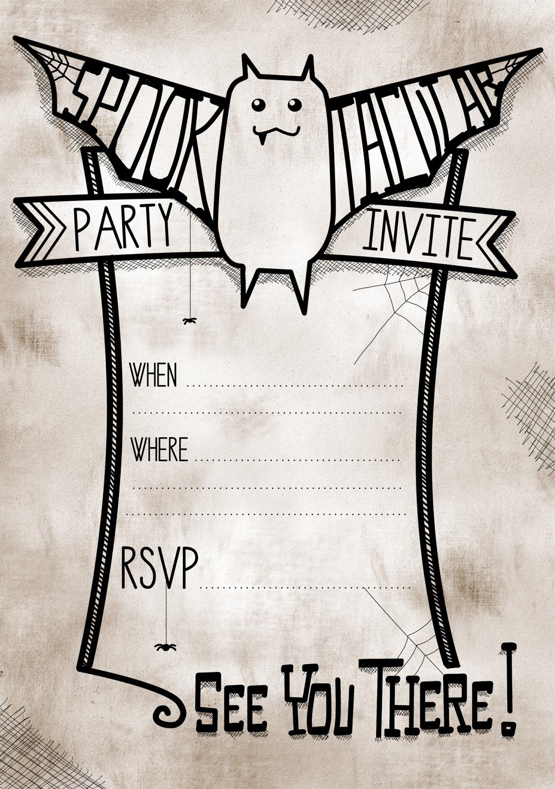 Cute Halloween Spooktacular Party Invites Free Halloween Party Invitations Printable Halloween Party Invitations Free Printable Halloween Party Invitations