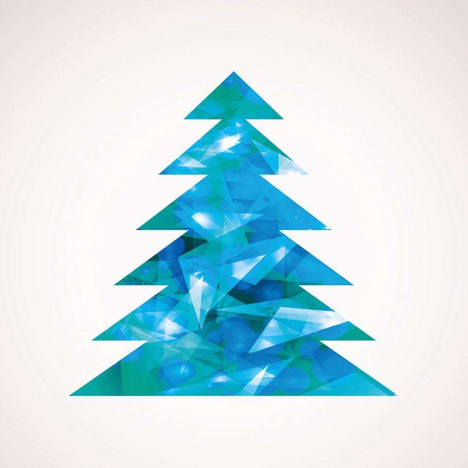 Modernt och stilrent julkort med en frostig känsla. UV-lack ger en hög glans.