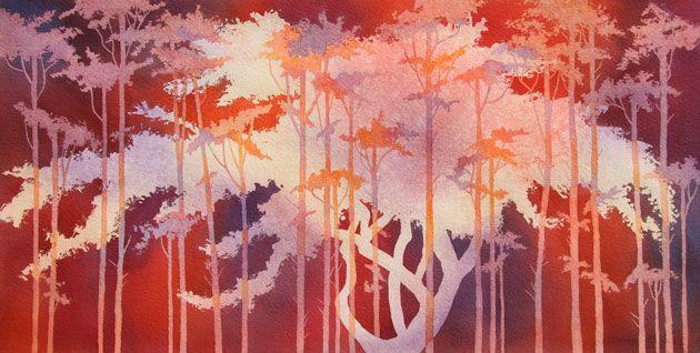 Rachel Collins Watercolor Landscape Image Slideshow Painting