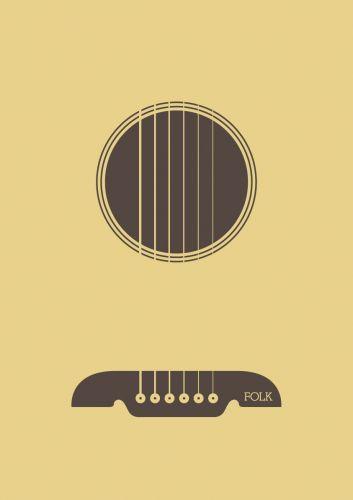 Guitar Minimalist Music Minimalist Poster Folk Music