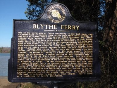Blythe Ferry Marker. Click for full size.