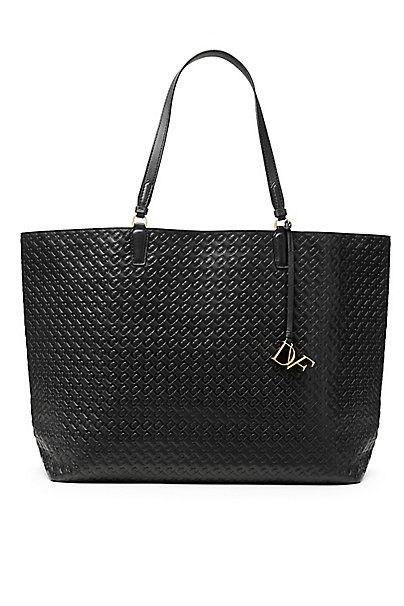 Voyage Chain Link Quilted Leather Large Tote