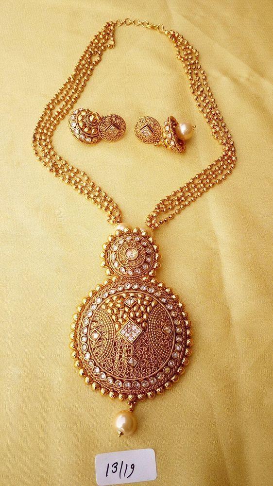 Indian polki gold beads big round pendant cz stone necklace jewelry indian polki gold beads big round pendant cz stone necklace jewelry traditional aloadofball Choice Image