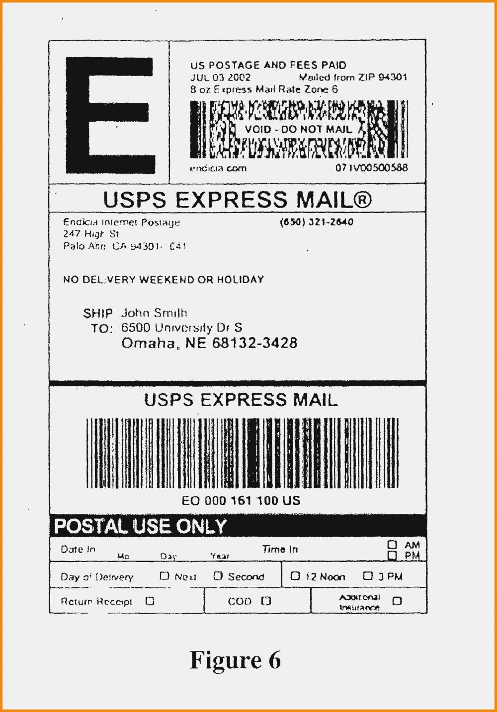 usps priority mail label template lovely package address