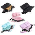 32pcs Muticolor Fashion Pro Eyebrow Shadow Soft Makeup Brush Set Kit + Pouch Bag #ad