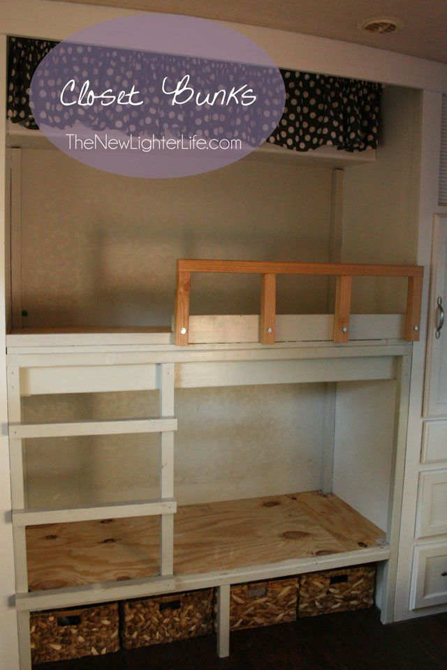 Rv Bunk Remodel Turning A Class A Master Bedroom In A