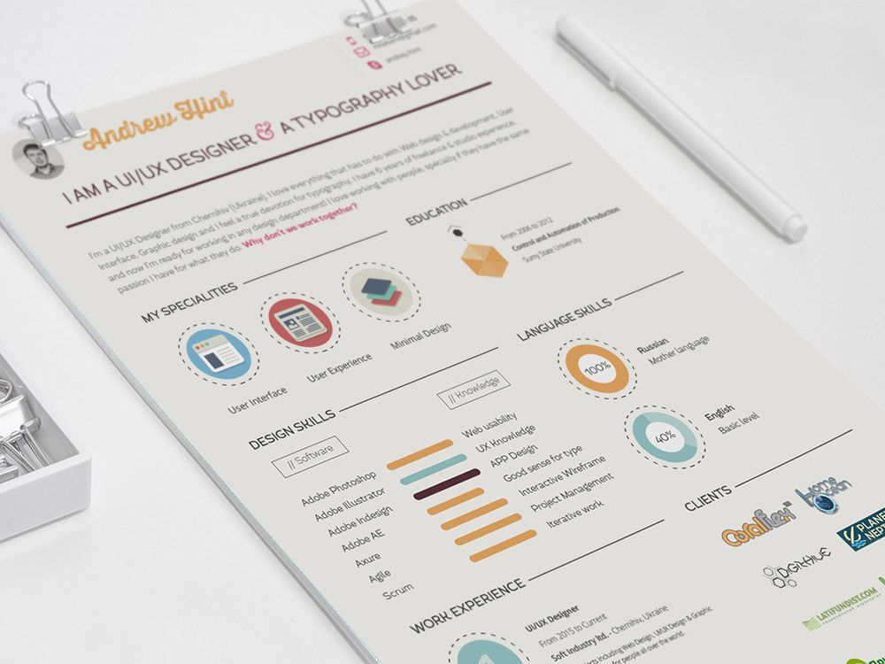 infographic resume template \u2013 lifespanlearninfo