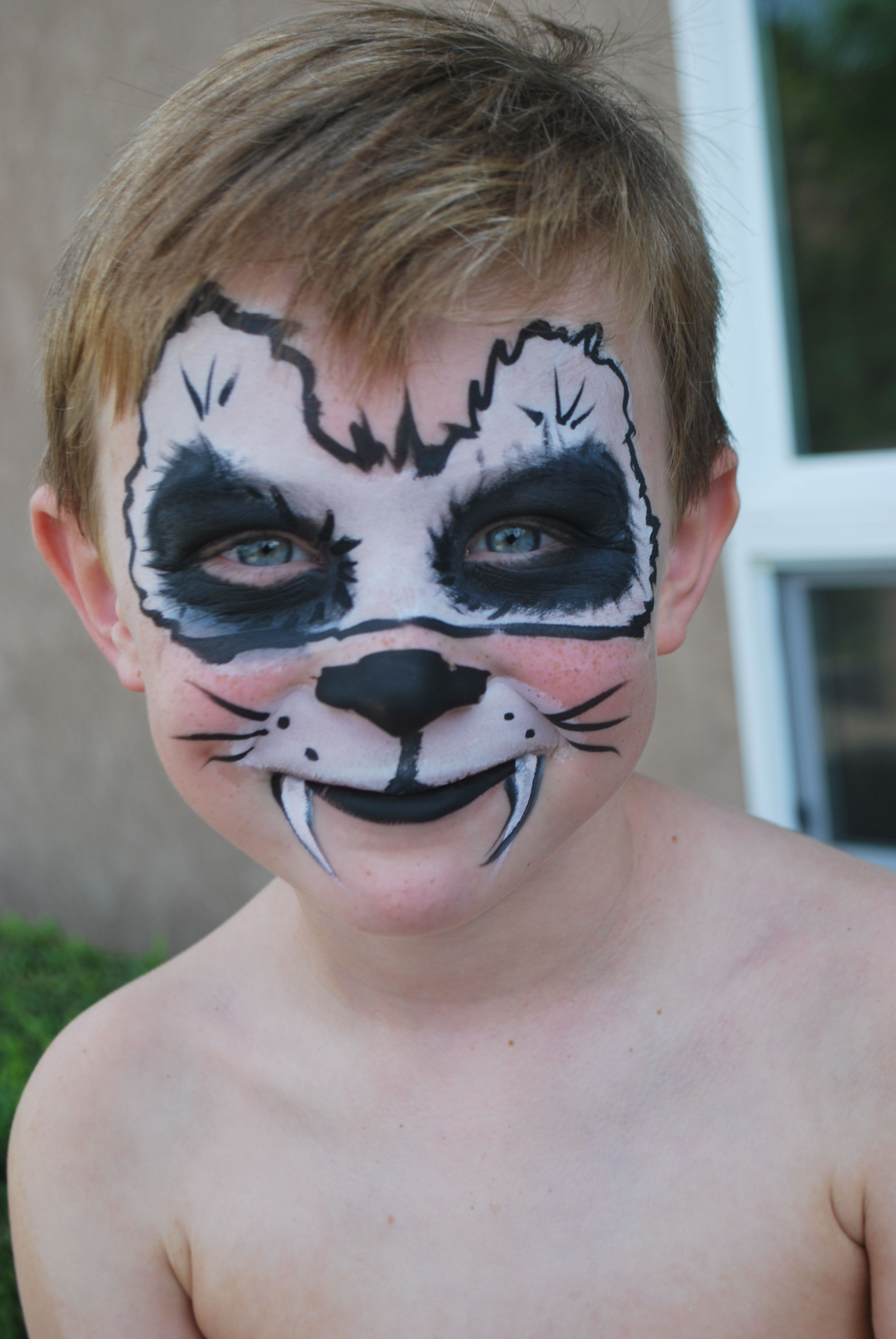 face painting panda male mask | Face painting, Painting tattoo