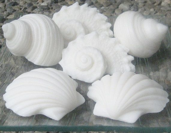white seashell soaps decorative beach soaps for the home and for soap favors