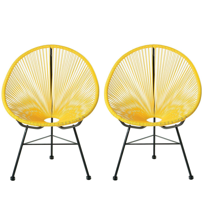 Best Amazon Com Acapulco Lounge Chair Yellow Set Of 2 400 x 300
