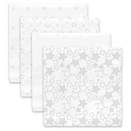 Swaddle Blankets Target Extraordinary Swaddledesigns 4Pk Muslin Swaddle Blankets  Goodnight Starshine Inspiration Design