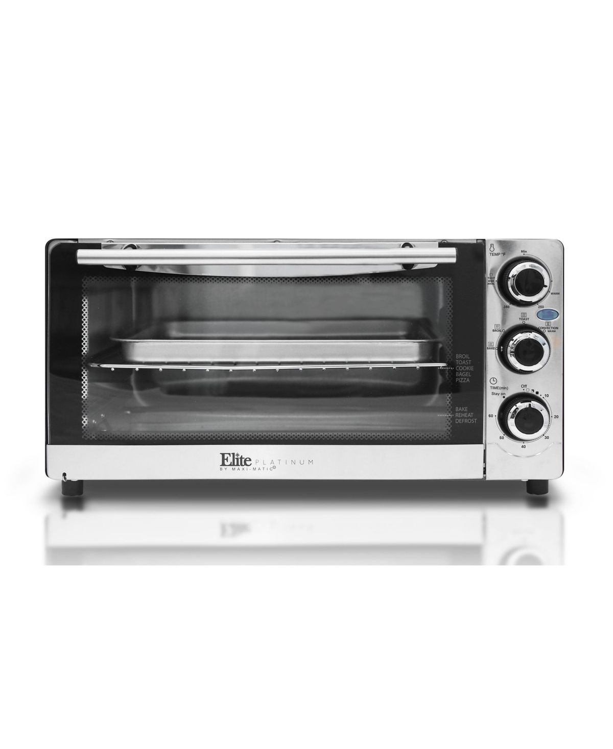 Elite By Maxi Matic Elite Platinum Stainless Steel 6 Slice Convection Toaster Oven Broiler Reviews Home Macy S Toaster Stainless Steel 6 Slice Toaster