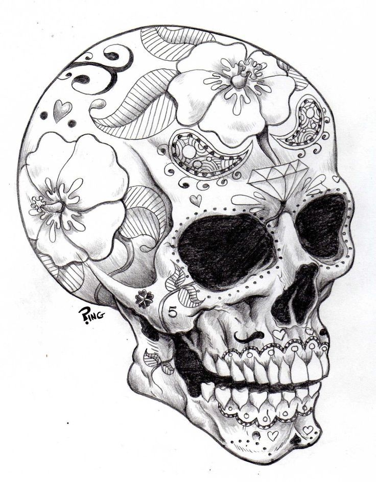 Sugar Skulls Coloring Pages | Printable Coloring Pages | color ...