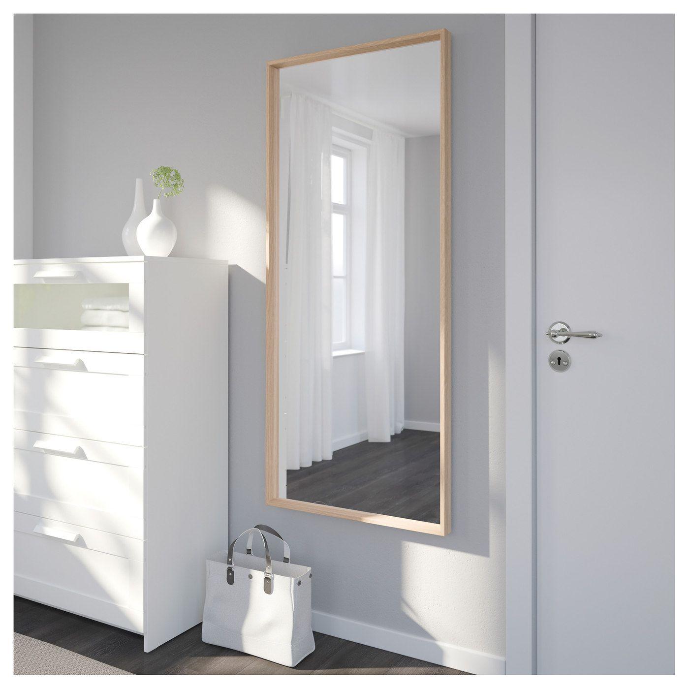 Nissedal Spiegel Eicheneff Wlas Ikea Deutschland Mit Bildern Fensterputzmittel Spiegel Ikea