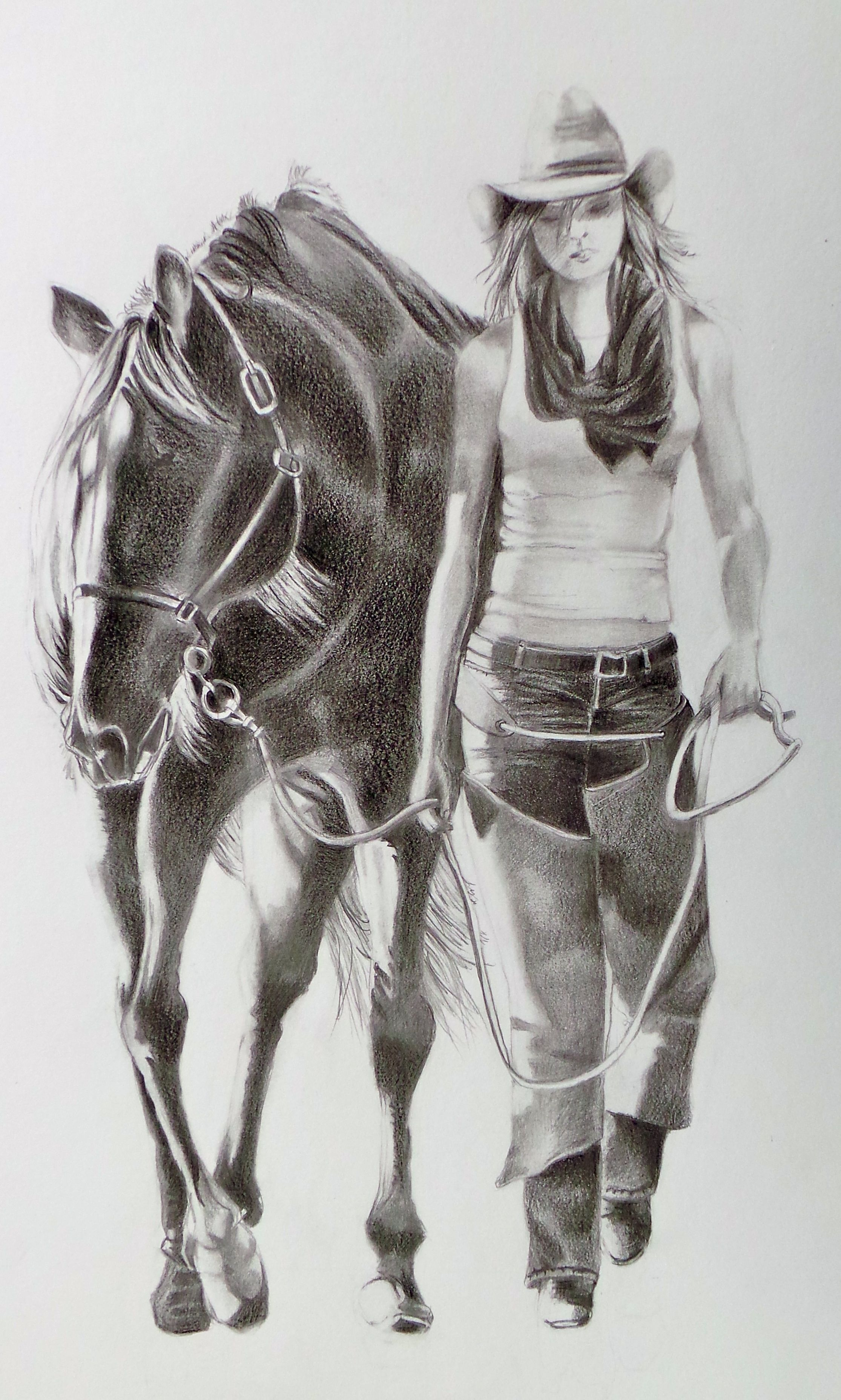 Famous nude cowgirl sketches join told