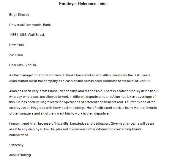 Personal Recommendation Letter Sample Personal Letter Of