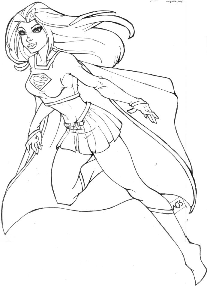 Supergirl coloring pages 04