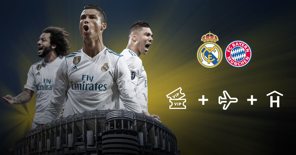 He participado en esta promo y puedo ganar una entrada doble VIP para el Real Madrid – Bayer de Múnich + vuelo i/v a Madrid + 2 noches de hotel. ¡Tú también puedes!