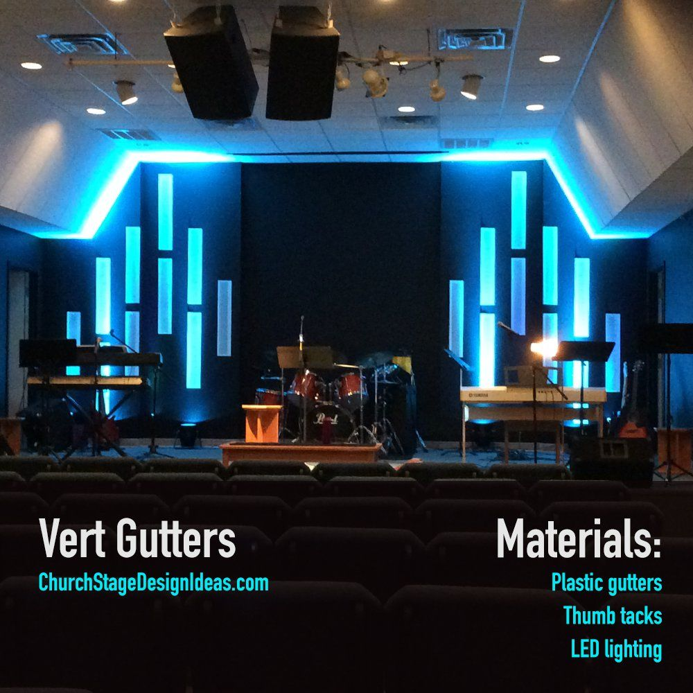 Vert Gutters   church   Pinterest   Escenografía de iglesia ...