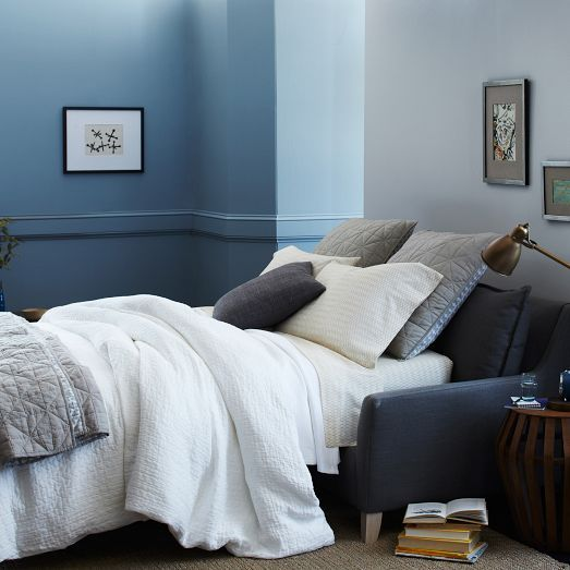 new bliss sleeper sofa from west elm small space living pinterest happy guest rooms and nice. Black Bedroom Furniture Sets. Home Design Ideas