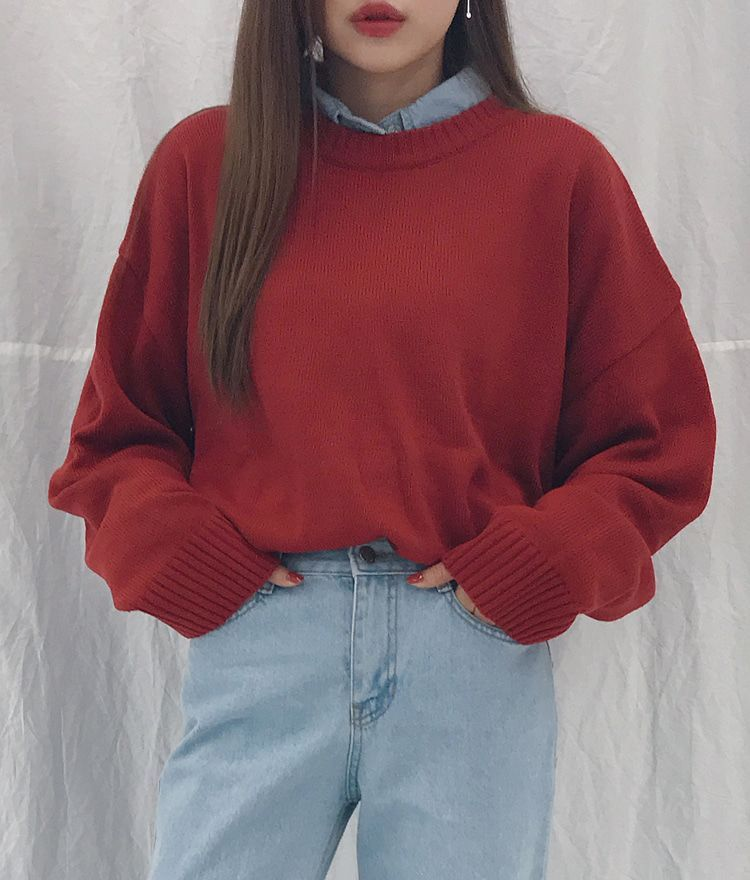 Photo of 365BASICDrop Shoulder Loose Fit Knit Top #90sfashiontrends A practical investmen…