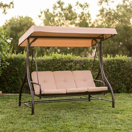 Best Choice Products 3 Seat Converting Outdoor Patio Canopy Swing