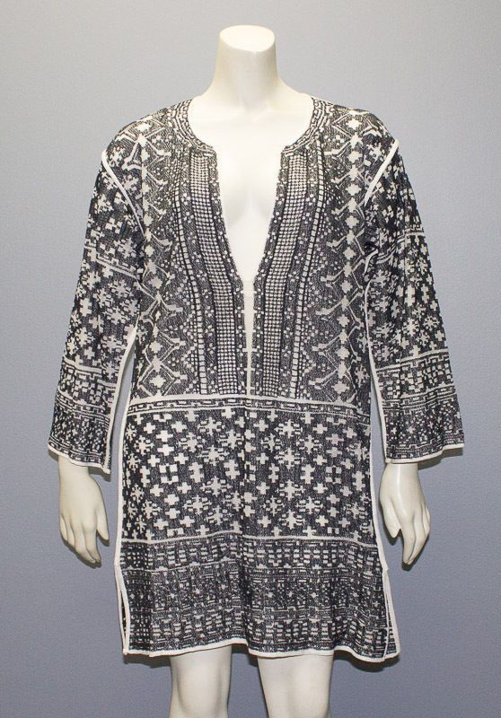 e6a39e8e778 ISABEL MARANT ETOILE ( Black Cream COTTON BLEND BLOOM TUNIC DRESS Sz M NWT  $480 #IsabelMarant #Tunic #SummerBeach