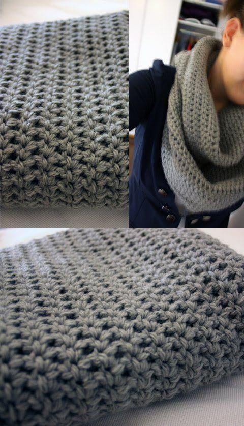 crochet scarf. with the pretty purple yarn sitting in my yarn bin ...