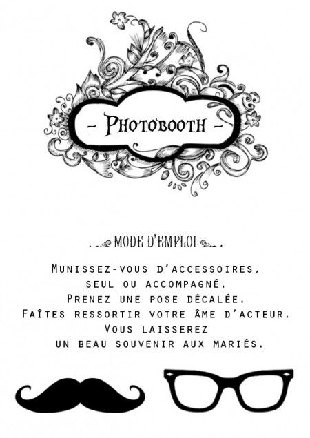 mode d 39 emploi photobooth recherche google photobooth pinterest wedding mariage and hochzeit. Black Bedroom Furniture Sets. Home Design Ideas