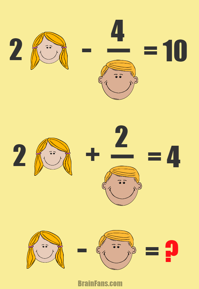 Brain teaser - Number And Math Puzzle - Math with a boy and a girl ...