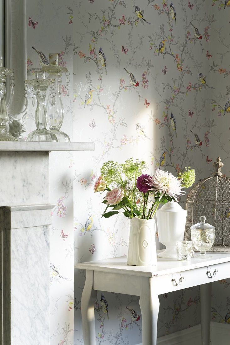 Phoebe By Albany Duck Egg Wallpaper Wallpaper Direct Bathroom Wallpaper Birds Wallpaper Bedroom Bird Wallpaper Bedroom