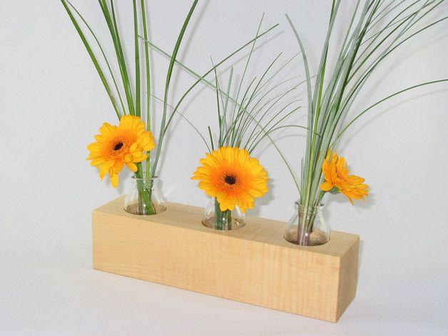 Blumen Blumenvase Blumentopf Übertopf Holz Sukkulenten Pflanzen