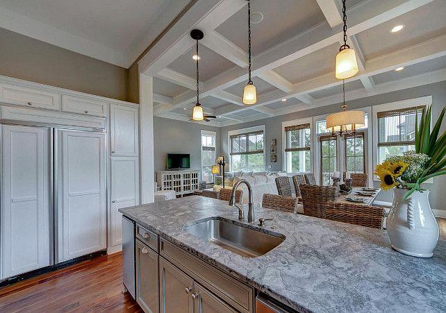 Granite Honed Granite Gray Kitchen Island With Honed Granite