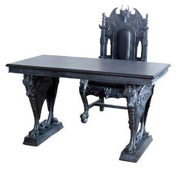 Chair And Desk Combo gothic skull chair | table chair combination set full size 55