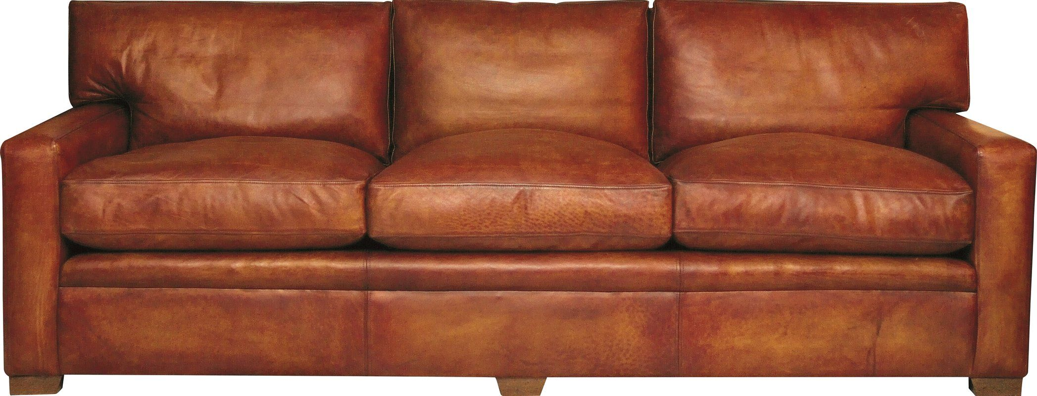 Berry Leather 4 Seater Sofa Clic
