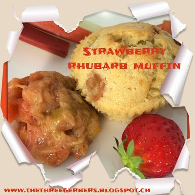 Confessions of a part-time working mom: Strawberry Rhubarb Muffins