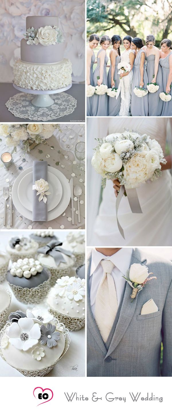 7 Grey Color Palette Wedding Ideas Inspirations
