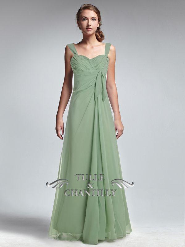 Moss Green Prom Dress