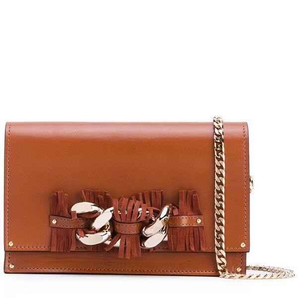 08a5e730c667 Casadei chain fringe strap shoulder bag (5.454.615 IDR) ❤ liked on Polyvore