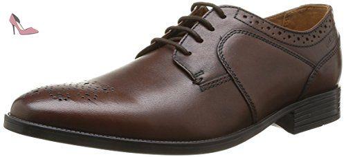Clarks Truxton Plain leather Men's Business shoes dark brown, pointure:eur 43