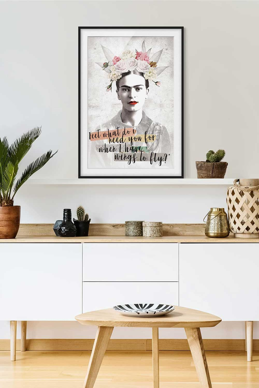 Poster con cornice Frida Kahlo Quote Verticale 43