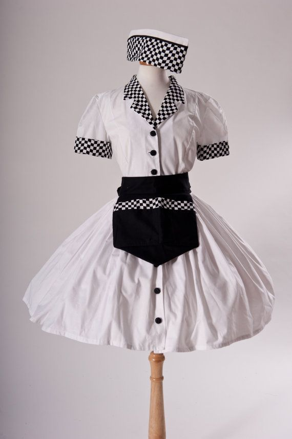 Car Hop Costume Retro 50s Drive In Waitress Dress by MGDclothing $299.95 | Donnau0026#39;s | Pinterest ...